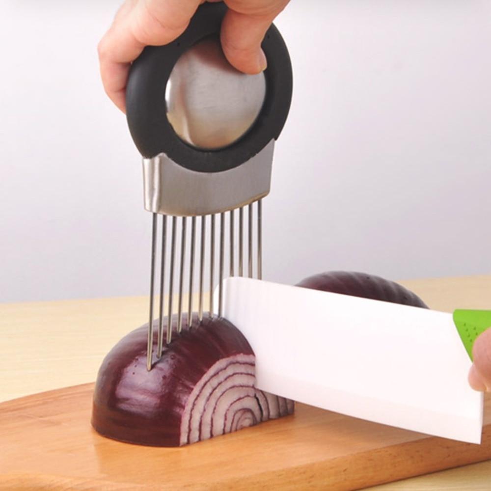 1Pc Stianless Steel Onion Garlic Tomato Kitchen Cut Fruit Vegetable Slicer Chopper Cutters 16*9.5*1cm