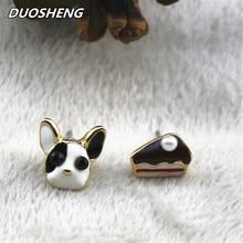 Fashion stud earring pearl animal Dog glaze Lovely girl earrings for women fashion jewelry direct sale