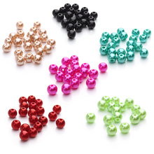 LINSOIR 100pcs/lot 6mm 8mm 10mm ABS Imitation Pearl Beads Round Plastic Acrylic Spacer Beads for Jewelry Making Findings DIY F48(China)