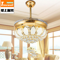 CM085 Hidden Ceiling Fan Light Fan Living Room Dining Room Bedroom Home Minimalist Modern LED Fan