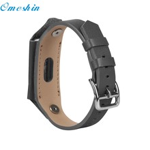 OMESHIN Simplestone Replacement Leather Wristband Band Strap For Xiaomi Mi Band 2 Bracelet Dec16(China)