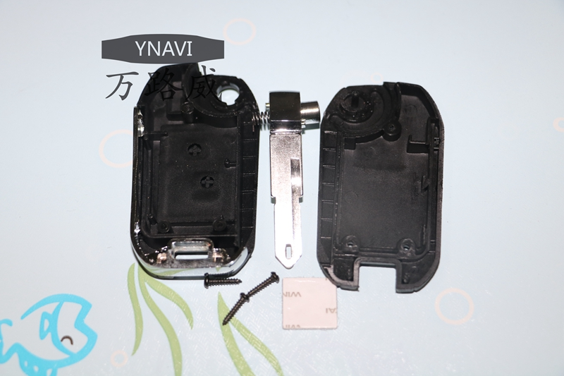 2pcs Fob Replacement 2 Buttons Modified Flip Remote Key Shell Case Cover For Peugeot 206 For Citreon C2 With NE73 Blade