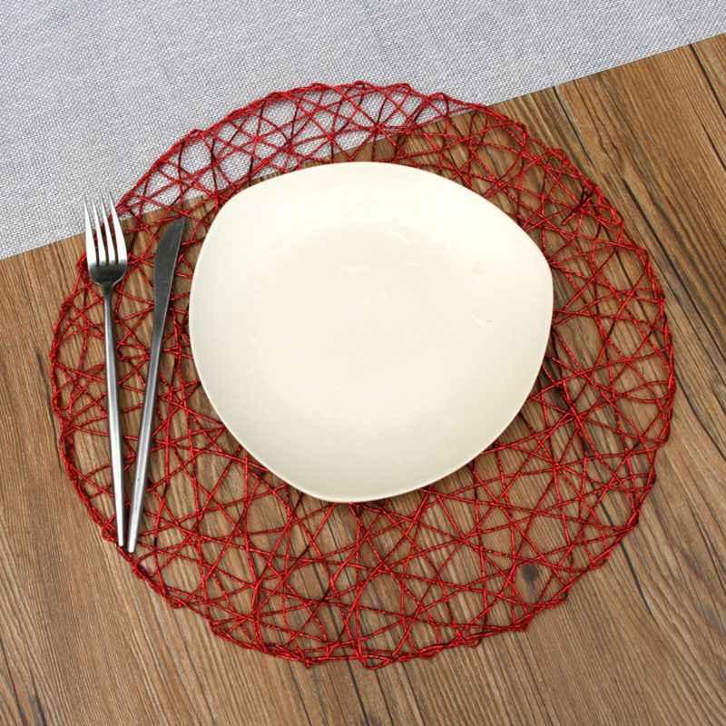 38 ซม.ตาราง Placemats Coaster Mats การรับประทานอาหาร Coaster Pad ร้านอาหารอุปกรณ์ตกแต่งบ้าน