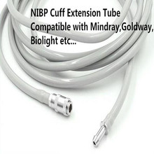 Free Shipping NIBP Extension Tube NIBP HoseTube for Mindray,Goldway,Biolight Philips Monitor,Male to Female Cuff Connector PU цена 2017