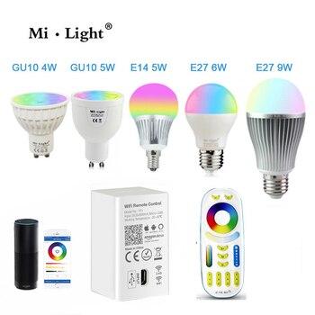 Milight Led-lampe CCT/RGBW/RGBWW/RGB + CCT Dimmbare Lampe Licht 16 Millionen Farben MR16 GU10 e14 E27 12W & Alexa wifi Controller