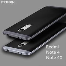 Xiaomi редми примечание 4X чехол редми примечание 4 case MOFi заднюю случае Глобальный Версия Xiaomi Редми примечание 4 ТПУ мягкий чехол рамка ПК 5.5