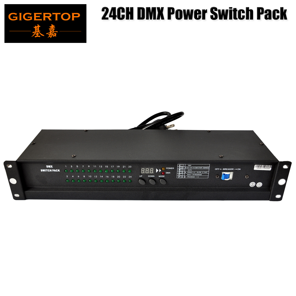 TIPTOP 24CH DMX Power Switch Pack Fuse Breaker Protection DMX512 Control Power Supply 12A Stage Light Using 1 Year Warranty