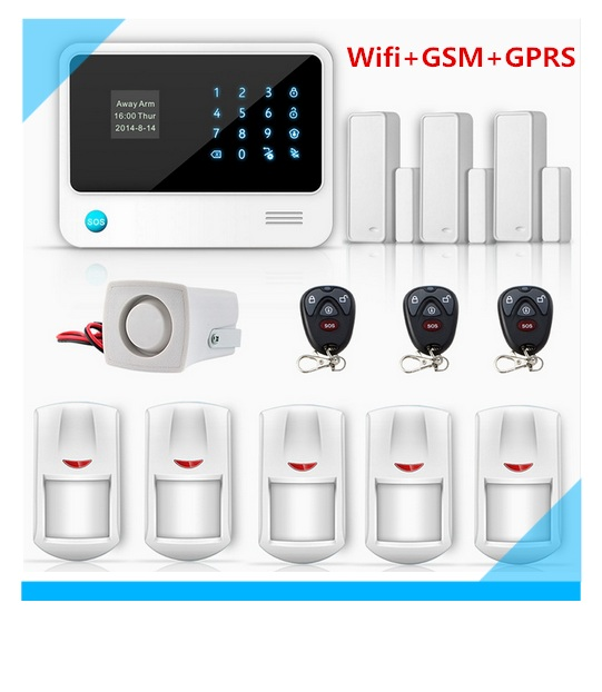 Factory Price G90B LCD Display Wifi GSM Alarm System Burglar Security Alarm  System With Two Way