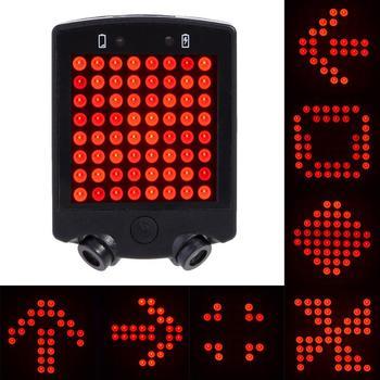 64 LED Laser tylne światło tylne wodoodporna USB akumulator MTB Bike automatyczne kierunkowskazy światło ostrzegawcze bezpieczeństwa
