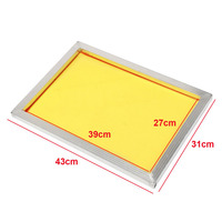 1pc Mayitr Reusable Aluminum Silk Screen Printing Frame 27x39cm With 120t 300 TPI Yellow Mesh For