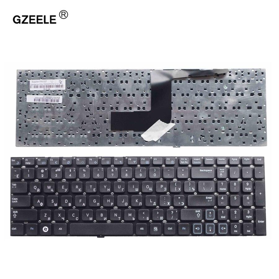 GZEELE nuevo ordenador portátil ruso vuelva a colocar el teclado para SAMSUNG RV511 RC510 RC520 RV520 RV515 E3511 RC512 E3511 RU teclado negro