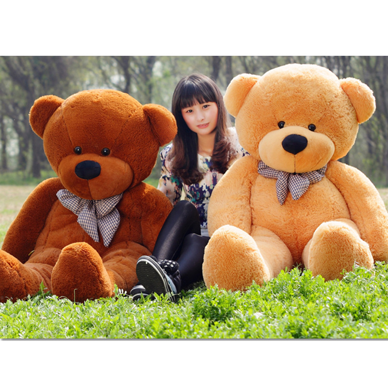 Large Size 180cm Stuffed Teddy Bear Plush Toy Big Embrace Bear Doll Lovers/Christmas Gifts Birthday gift 1pcs large size 120cm teddy bear plush toys bear 4 colors high quality kisd toys bear doll lovers christmas gifts birthday gift