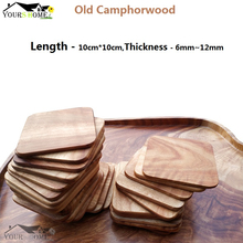 1pcs Old Camphorwood Coasters Wood Slices Bar Mats Coaster Reclaimed Willow Length(10*10cm) Height(6-12mm)