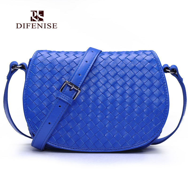 Difenise Genuine First Layer of Sheepskin Leather shoulder bags For font b Women s b font