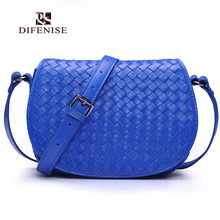 Difenise Genuine First Layer of Sheepskin Leather shoulder bags For Women's Bags Knitting Crafts Soft Sheepskin 100% Lady Bags
