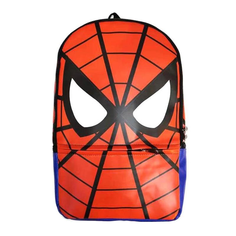 """Mados odinės kuprinės """"Anime Spiderman"""" mokykliniai krepšiai Super herojai """"Avengers"""" Deadpool Batman Spider vyrai Kelioninės mochila kuprinės"""