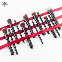 Anmor 12PCS Makeup Brushes Set Professional Beauty Make up brush Contour Powder Foundation Blush Brushes brochas maquillaje