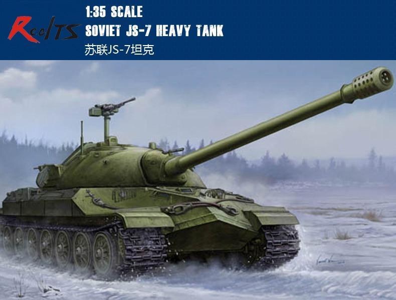 Oyuncaklar ve Hobi Ürünleri'ten Modeli Yapı Setleri'de RealTS Trompetçi model 05586 1/35 Sovyet JS 7 Ağır Tankı Nesne 206 plastik model seti'da  Grup 1