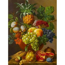 40x50cm Framed Picture Paint On Canvas Diy Digital Oil Painting By Numbers Drawing Home Decor Craft Gift Fruit Vase