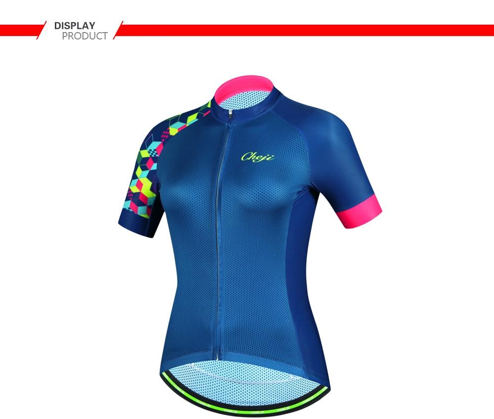 CHEJI New Arrival Women Bicycle Jersey Short Sleeves MTB Road Bike Shirt  YKK Zipper Cycling Clothing Ropa De Ciclismo 2018. + 01 + 02 + 03 + 04 + 05  + 07 ... 4f703c12d