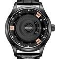 Nuevo estilo de la manera del dial rotatorio megir marca hombres reloj impermeable reloj deportivo para hombre relojes de pulsera de cuero reloj de cuarzo relogio masculino