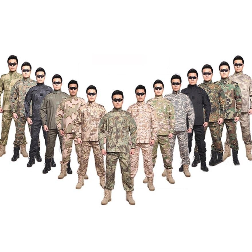 10Color High Quality Military Uniform Men Army Tactical ACU Multicam Camouflage Suit Militar Soldier Clothes Pants Set XS~2XL