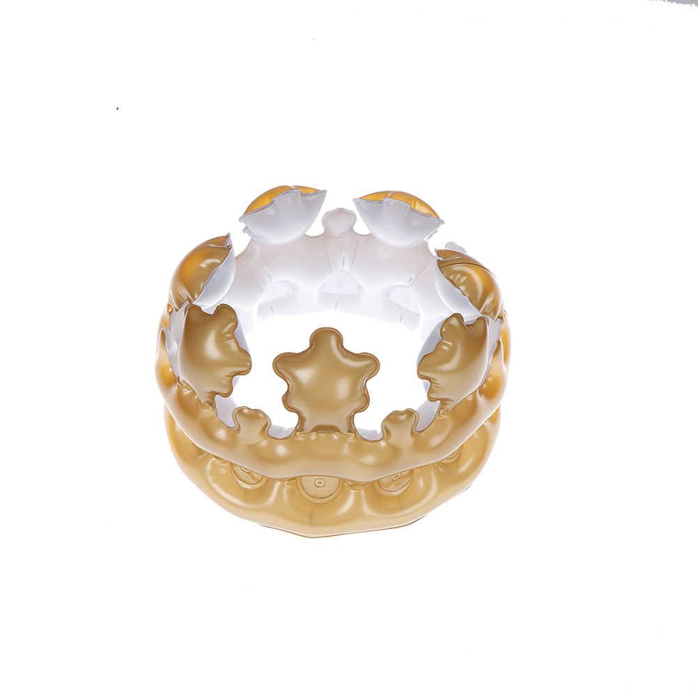 1 шт. надувная золотая корона король королева день костюм вечерние украшения на