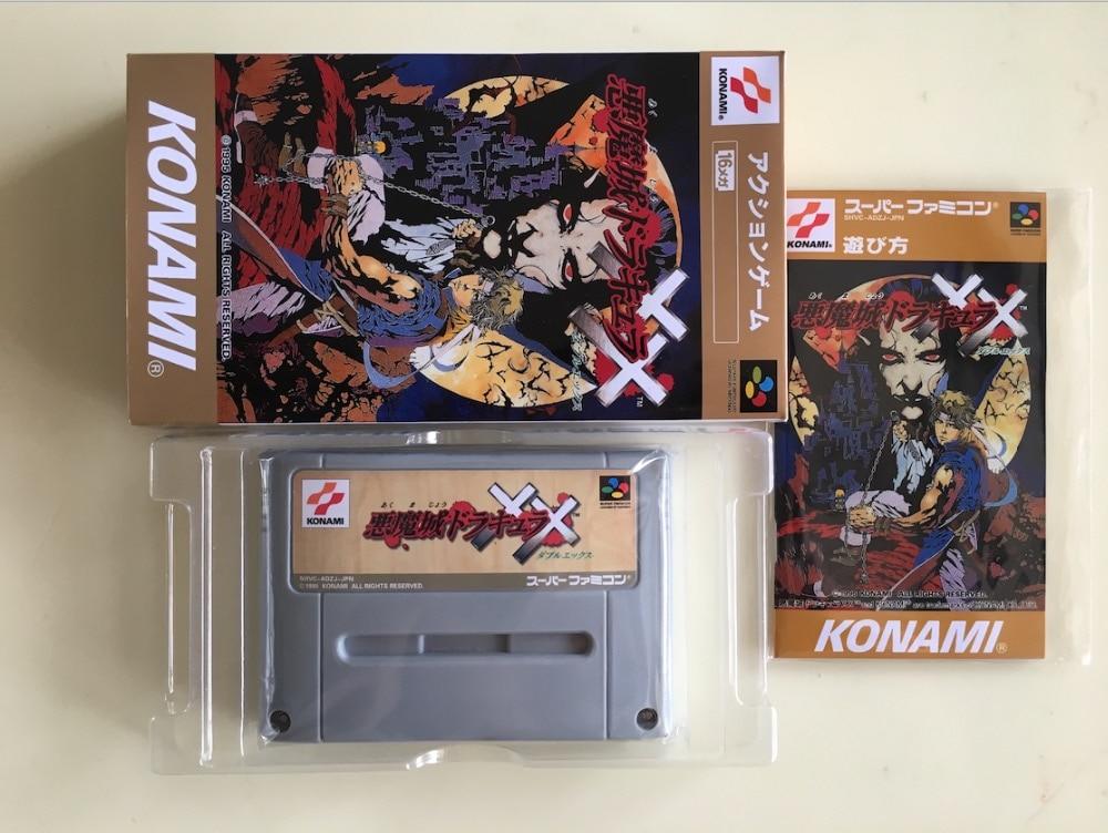 16Bit Games Akumajo Dracula XX Japan NTSC J Version Box Manual Cartridge