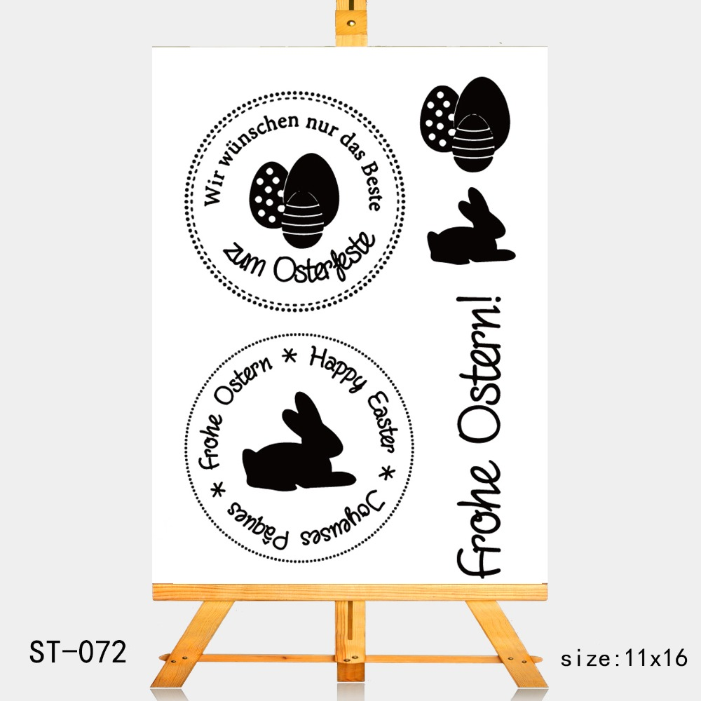 AZSG celebrates Easter Clear Stamps For DIY Scrapbooking Rubber Stamp Seal Paper Craft Clear Stamp Card Making in Stamps from Home Garden