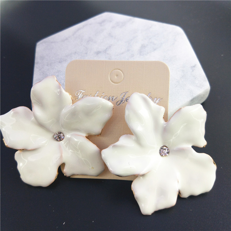 in silver sterling with compatible cubic flower stud earrings white from jewelry primrose zirconia enamel item