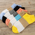 5 pairs/lot Fashion Socks Women Sripe Candy Color Slippers Sock Low Cut Cotton Socks