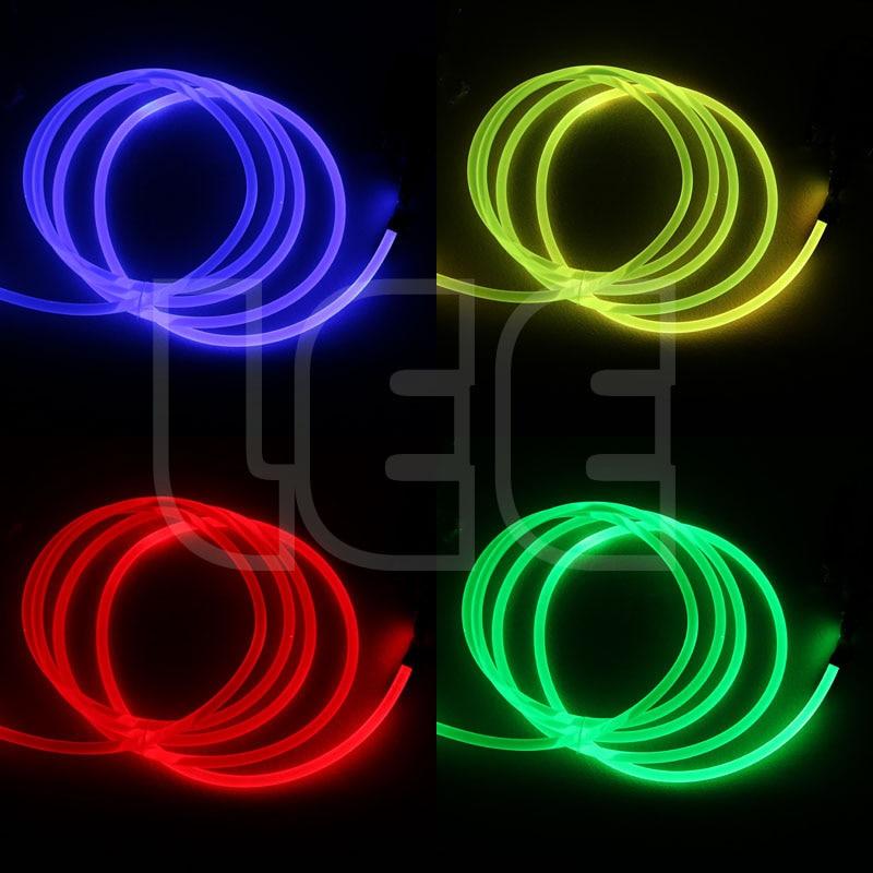 Image 4 - 5mX прозрачная сторона свечения пластик PMMA волоконно оптический кабель твердого сердцевина оптического кабеля диаметр 1,5 мм/2 мм/3 мм/4 мм/6 мм/8 мм Бесплатная доставка-in Оптоволоконные лампы from Лампы и освещение on