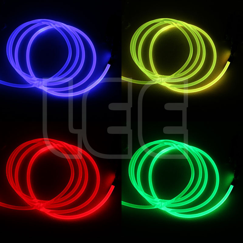 Image 4 - 5mX Transparent side glow plastic PMMA fiber optic cable solid core optic cable diameter 1.5mm/2mm/3mm/4mm/6mm/8mm free shipping-in Optic Fiber Lights from Lights & Lighting on