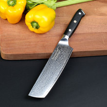 Sunnecko 7 tommer Cleaver Chef's Knife Japansk Damaskus VG10 Chef Knife 73 Layers Damaskus Steel Kitchen Knives G10 Håndtag