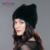 Chapéu de pele do inverno para as mulheres de pele de vison real tira ENJOYFUR cap sólidos casual chapéus de pele de malha chapéus 2016 nova marca de moda chapelaria chapéu