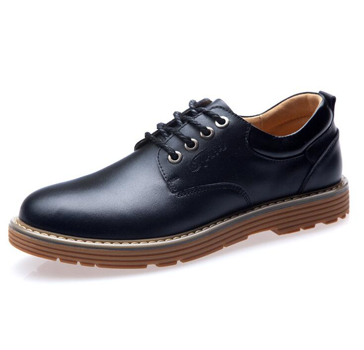2016 New British fashion brand Business men s Genuine leather shoes high quality Oxfords Official Dress
