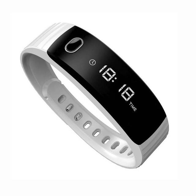 Moda Silicone Relógio Bluetooth Inteligente Com Tempo de Chamadas SMS Lembrete Push Pedômetro Monitor de Sono Remoto Da Câmera Para Smartphones.