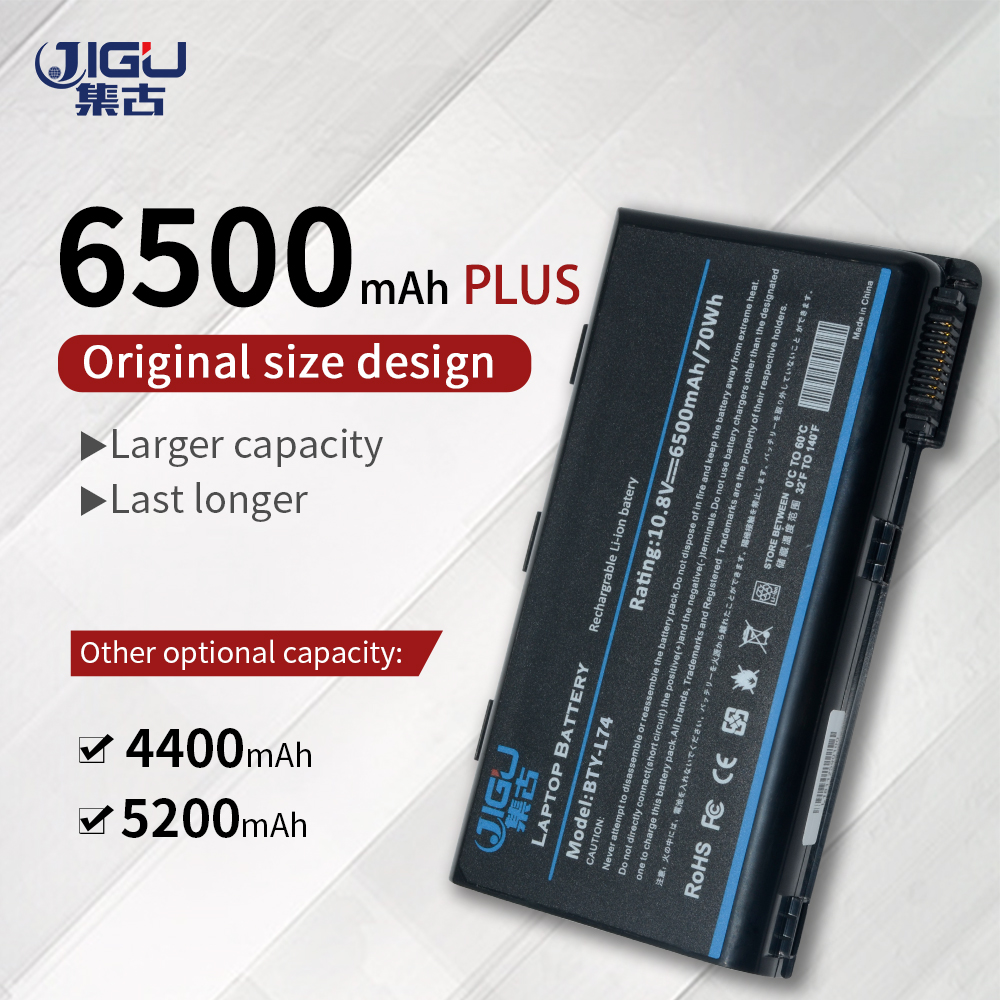 JIGU New 6Cells Laptop Battery BTY-L74 For <font><b>MSI</b></font> CX600X CX605 CX605X CX610X CX605M CX620 <font><b>CX620MX</b></font> CX620X CX623 CX630 CX623X Series image