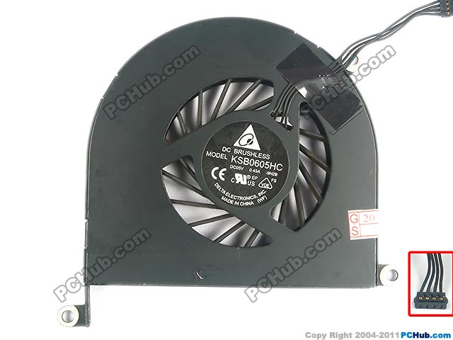Delta Electronics KSB0605HC -9H2B Server Laptop Fan DC 5V 0.45A 4-wire free shipping for delta ffr1212dhe sp02 dc 12v 6 3a 120x120x38mm 4 wire car booster fan