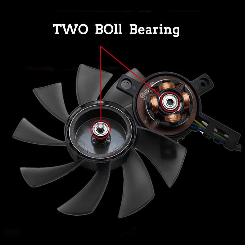 85MM T129215SU ventilador de refrigeración para Gigabyte GeForce GTX 1050Ti GTX1060 RX 480, 470, 570, 580 GTX 1060 G1 tarjeta gráfica ventilador