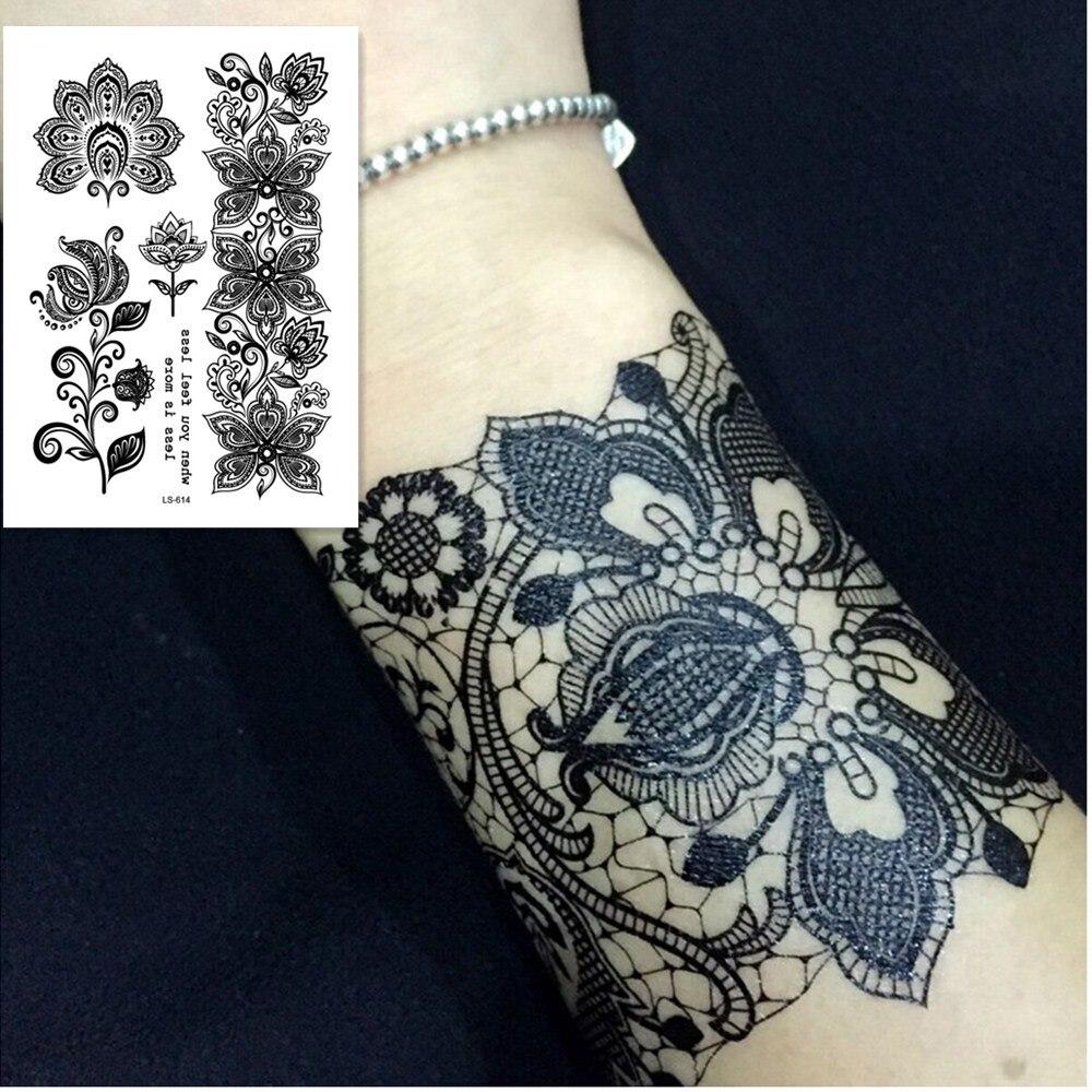 Ls614efashionbeautiful High Quality Temporary Flower Tattoo