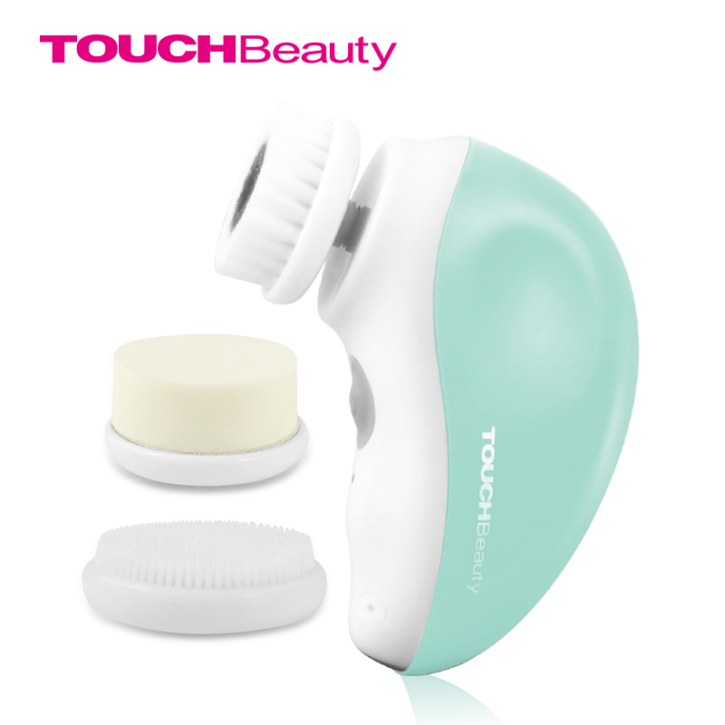 TOUCHBeauty 3 in 1 rotary electric facial cleansing brush,USB rechargeable face brush travel kit TB-1387