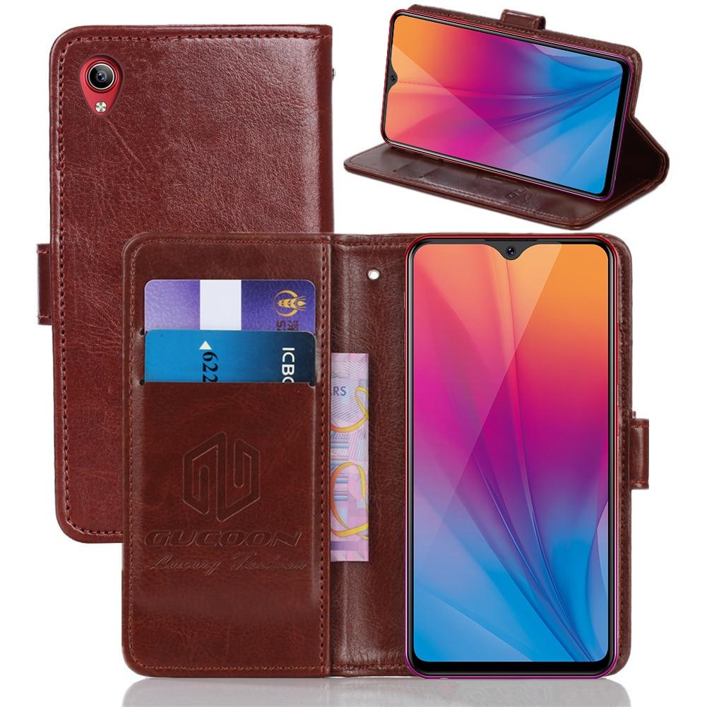 GUCOON Classic Wallet Case For Vivo IQOO U1 Y89 Y91 Y91C V15 Pro Cover PU Leather Vintage Flip Cases Fashion Phone Bag Shield