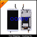 HK Post +Tracking No. 100% tested Guarantee for LG Optimus G2 D800 D801 D803 F320 LCD Digitizer Assembly Frame  -black/white