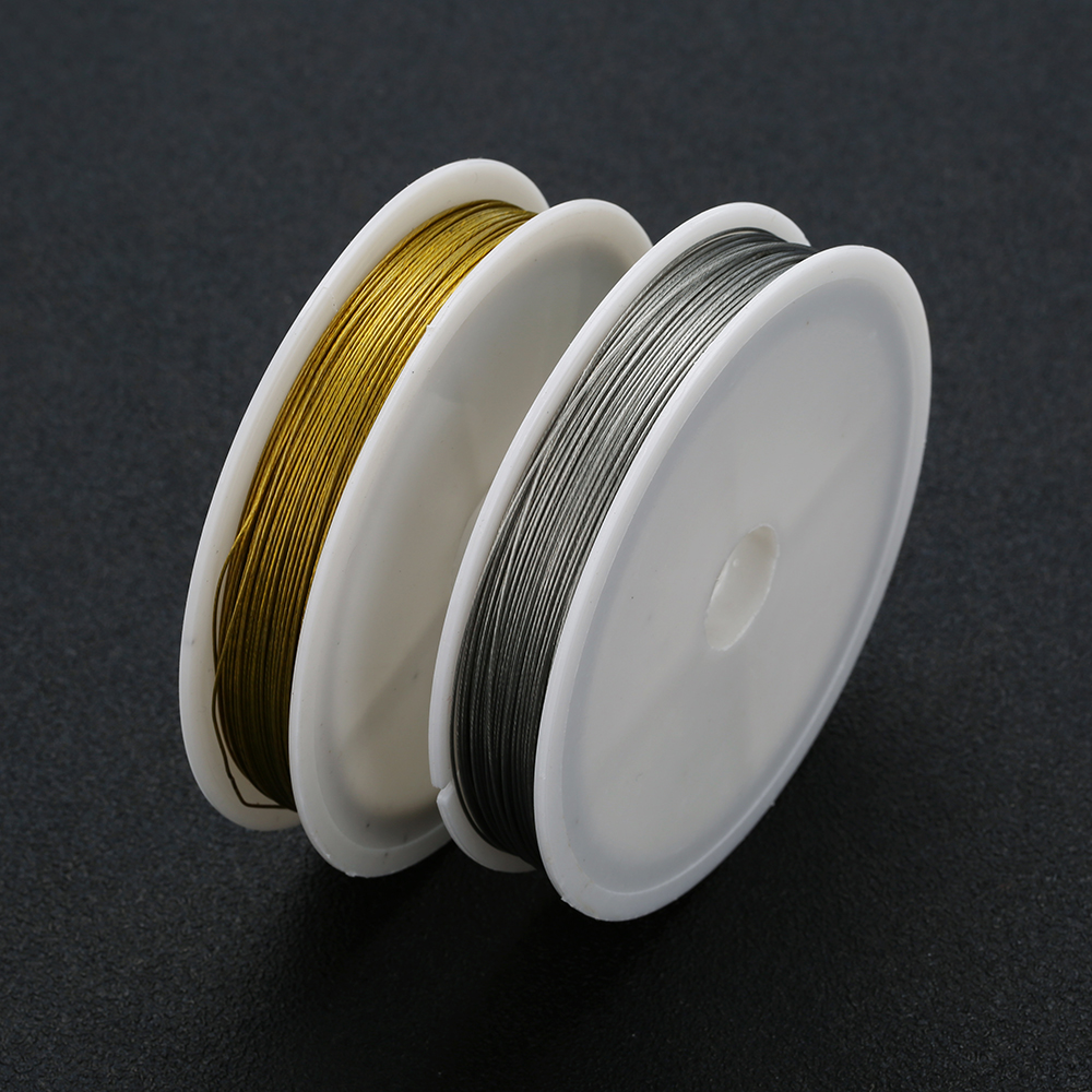 1 Roll 0 45mm 0 5mm 0 6mm Stainless Steel Wire Beading