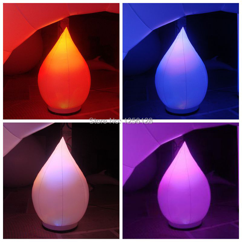 2 <font><b>m</b></font> H <font><b>colorful</b></font> inflatable water drops for stage decoration with changing rgb light