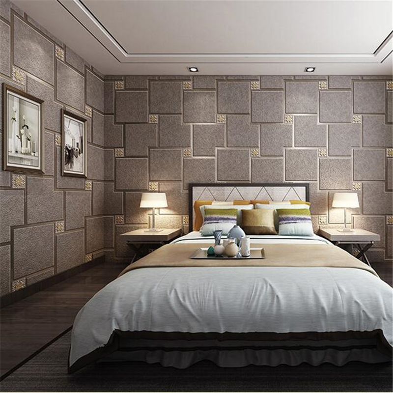beibehang papel de parede three-dimensional brick marble deerskin wallpaper Modern lattice living room tv background wall paper beibehang sandstone wall paper striped marble living room sofa background tv background modern wallpaper roll papel de parede 3d