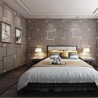 beibehang papel de parede three dimensional brick marble deerskin wallpaper Modern lattice living room tv background wall paper
