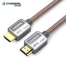 CHOSEAL HDMI кабель 2,0 3D 4 K высокого Скорость HDMI кабель для HD ТВ ЖК-дисплея ноутбука PS4/3 проектор Мини компьютер HDMI 2,0 кабель 1 м 2 м 3 м 5 м кабель