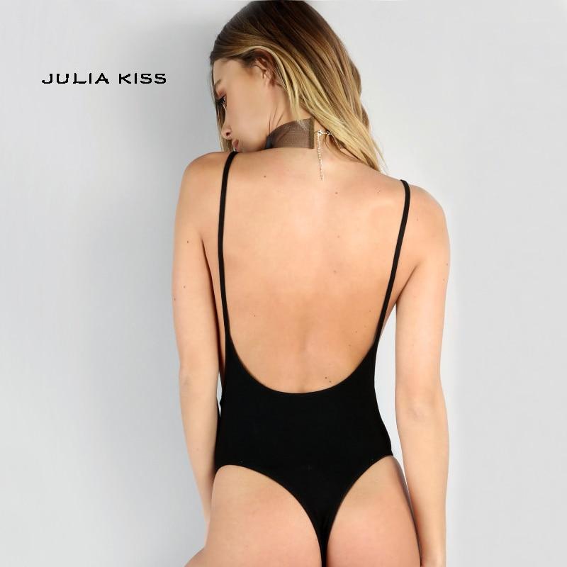Women Open Back Cami Bodysuit